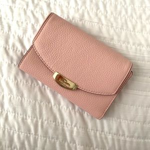 Kate Spade Light Pink Pebbled Leather Wallet